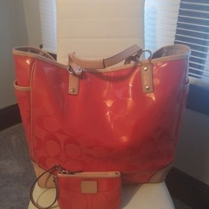 Coach Signature Weekender Tote & Matching Wallet